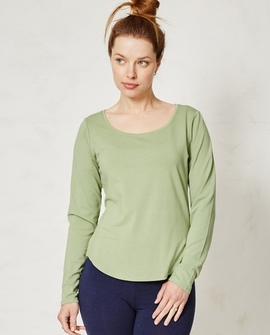 Bamboo Basic bluse, lysegrøn