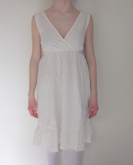Adelaide kjole, hvid