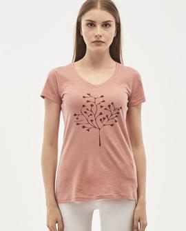 T-shirt, mørk fersken