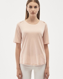 T-shirt, lys rosa
