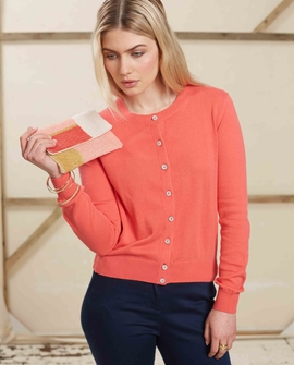 Catherine cardigan, coral