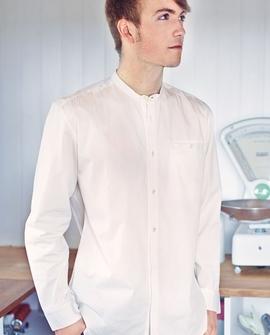 Grandpa skjorte, hvid