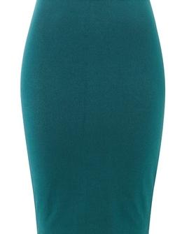 Amber nederdel, blågrøn