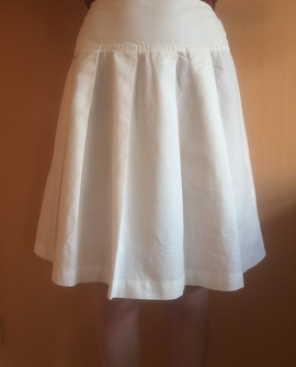 Adelaide nederdel, hvid