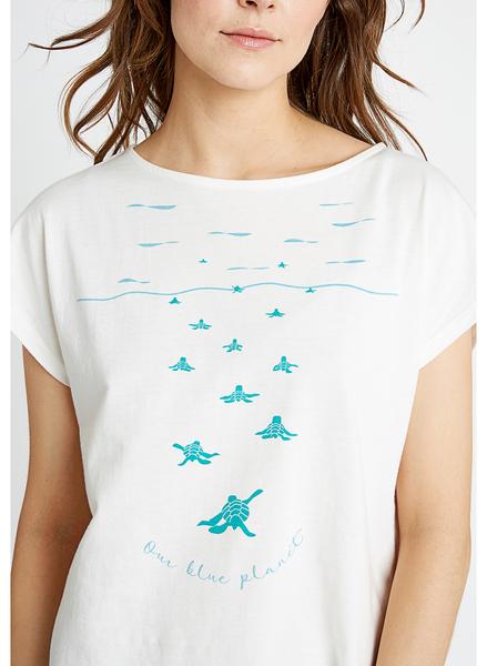 Earth Baby skildpadde t-shirt, hvid