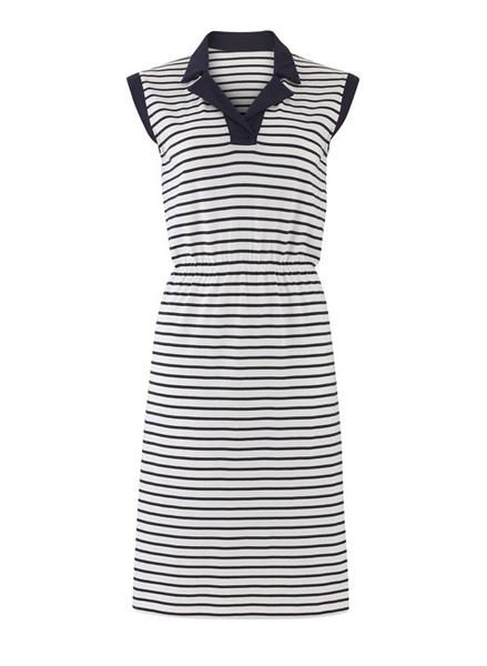 Charlotte kjole, med marineblå striber