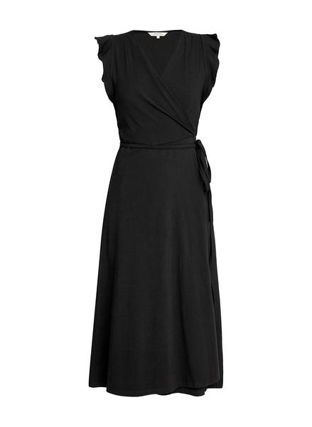 Melanie Wrap kjole, sort