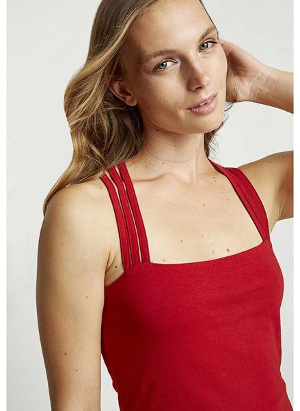 Riley Strappy kjole, rød