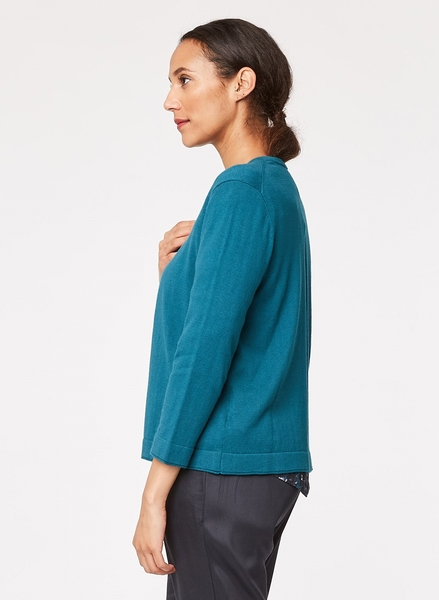 Audrey cardigan, blågrøn