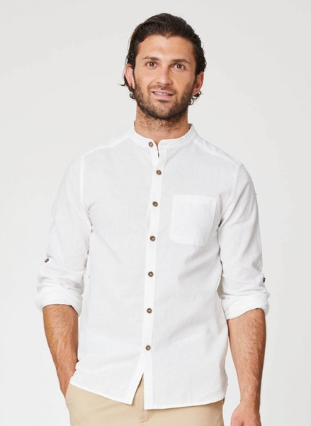 Avro Grandpa skjorte, råhvid
