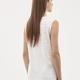 Bluse med V-udskæring, hvid