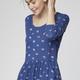 Obscura kjole, blå